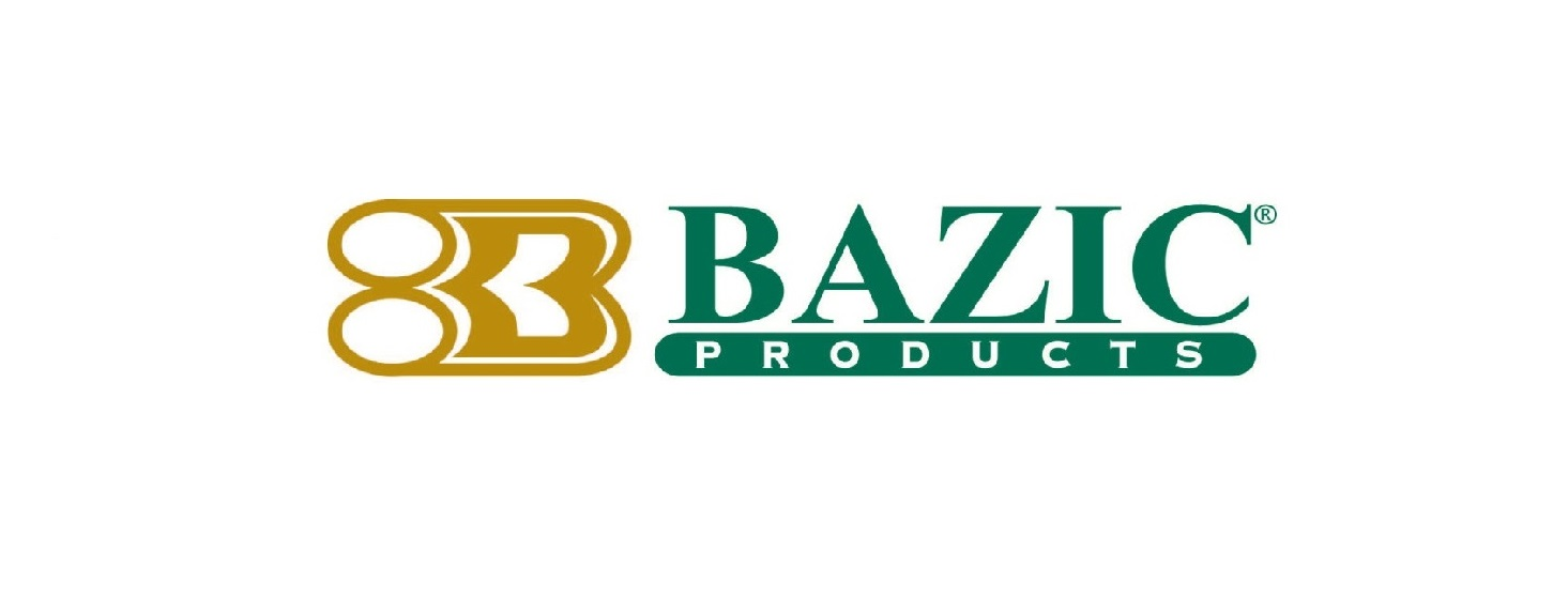Bazic Products text in green with gold logo to the left