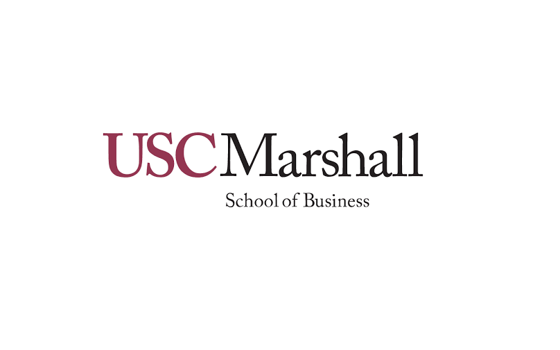USC Marshall text in red and black