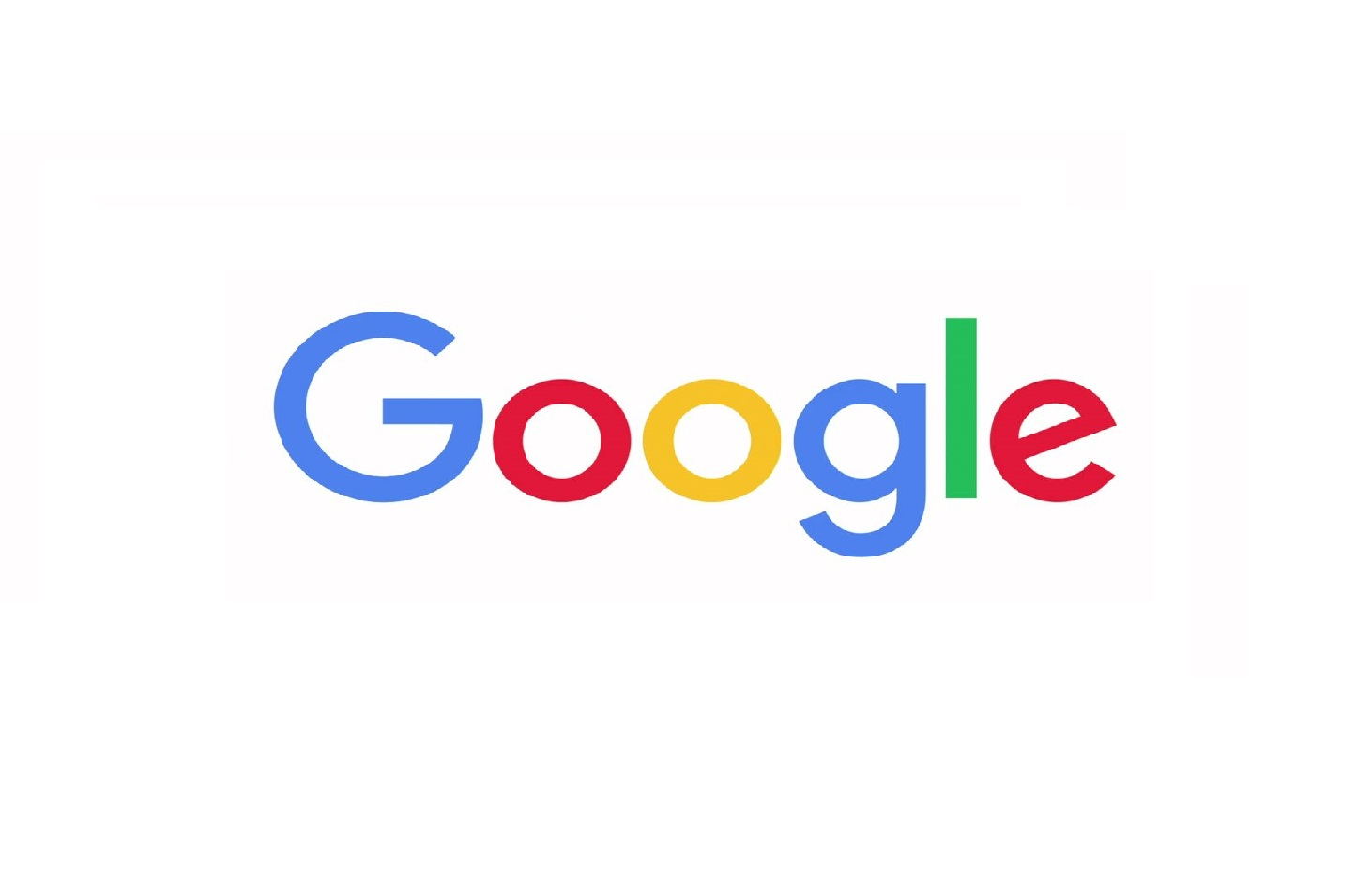 Google text in blue, red, yellow, and green