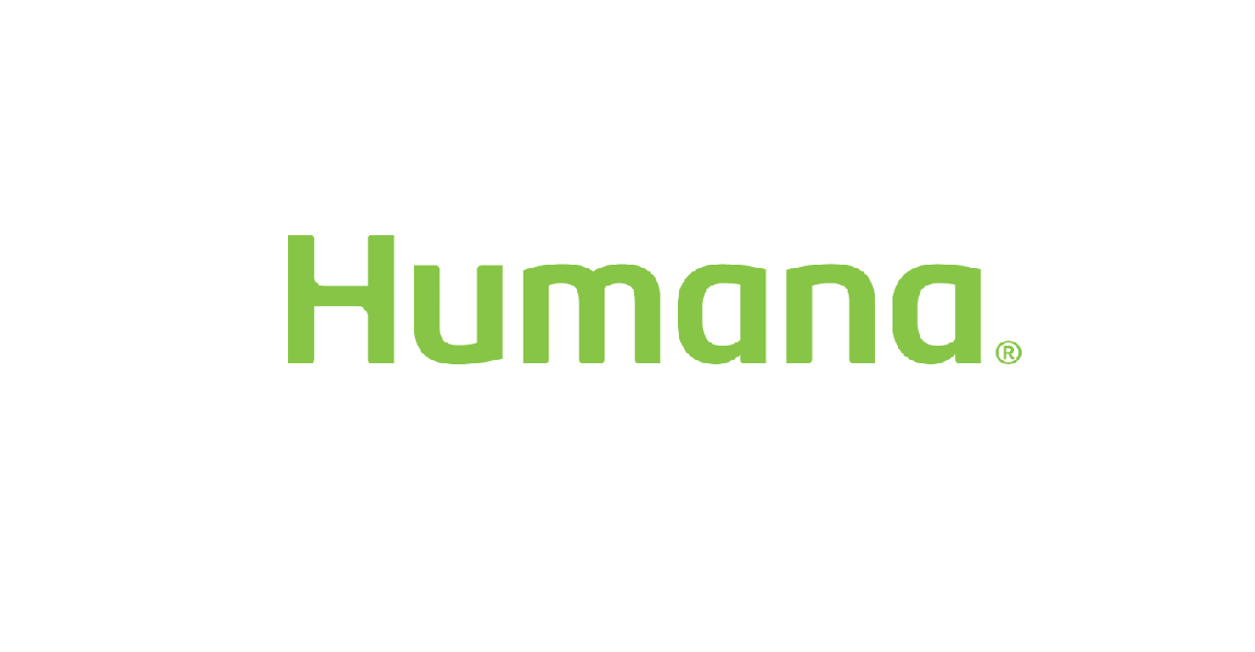 Humana text in light green