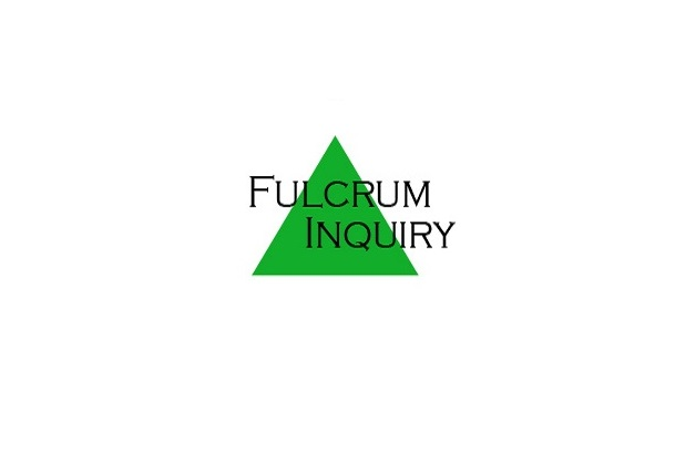 Fulcrum Inquiry in black text over a green triangle