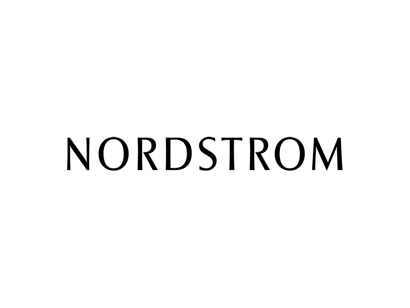 Nordstrom in black text