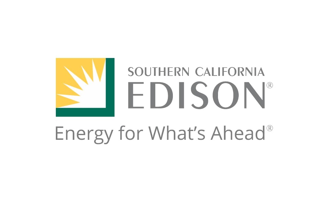 Southern California Edison in grey text with logo to the left