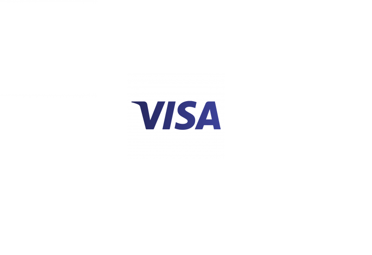 Visa text in blue