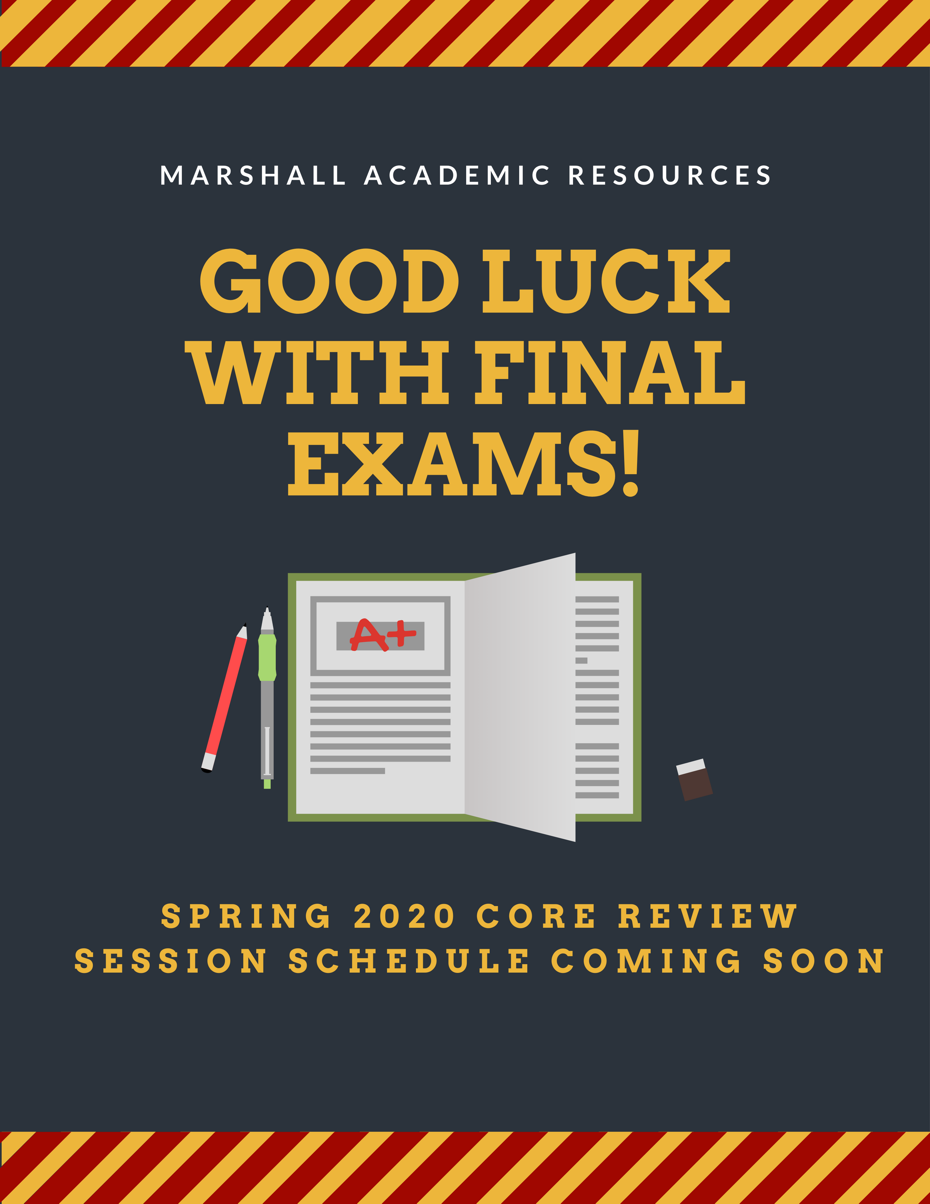Usc Schedule Of Classes Fall 2020.Core Review Sessions Schedule Usc Marshall