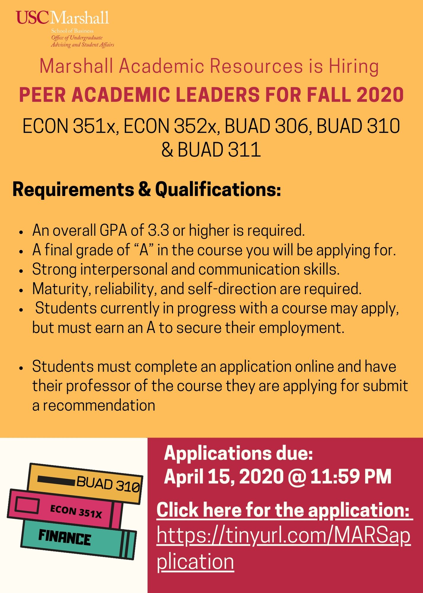 Peer Academic Leader flyer