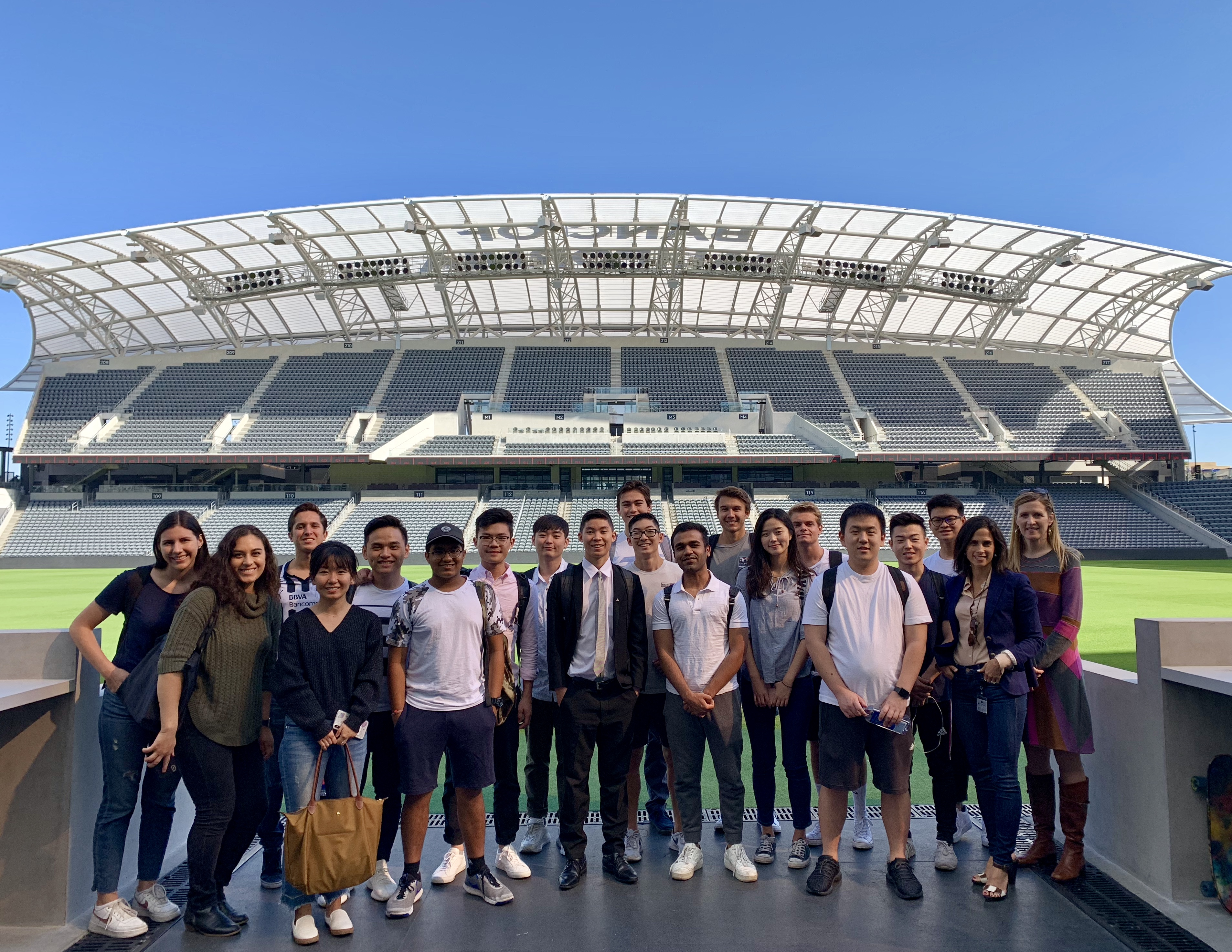 Professor Jaconi visiting LAFC with students from ACCT/BUAD 380x Introduction to Enterprise Risk Management