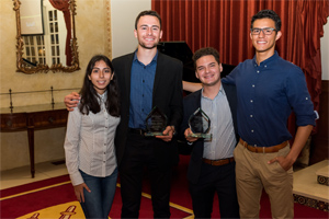 "The Latino Business Student Association won two awards at the 2019 Marshall Awards Banquet, including the ""Most Outstanding President Award"" and the ""Diversity and Inclusion Award"""
