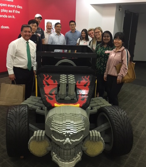 Professor Ching visiting Mattel with students from ACCT/BUAD 385x Introduction to Risk Management and Insurance