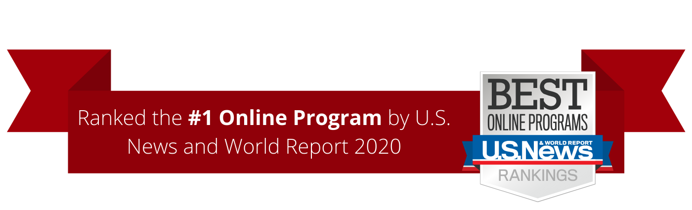 Ranked #1online program by us news and world report 2020