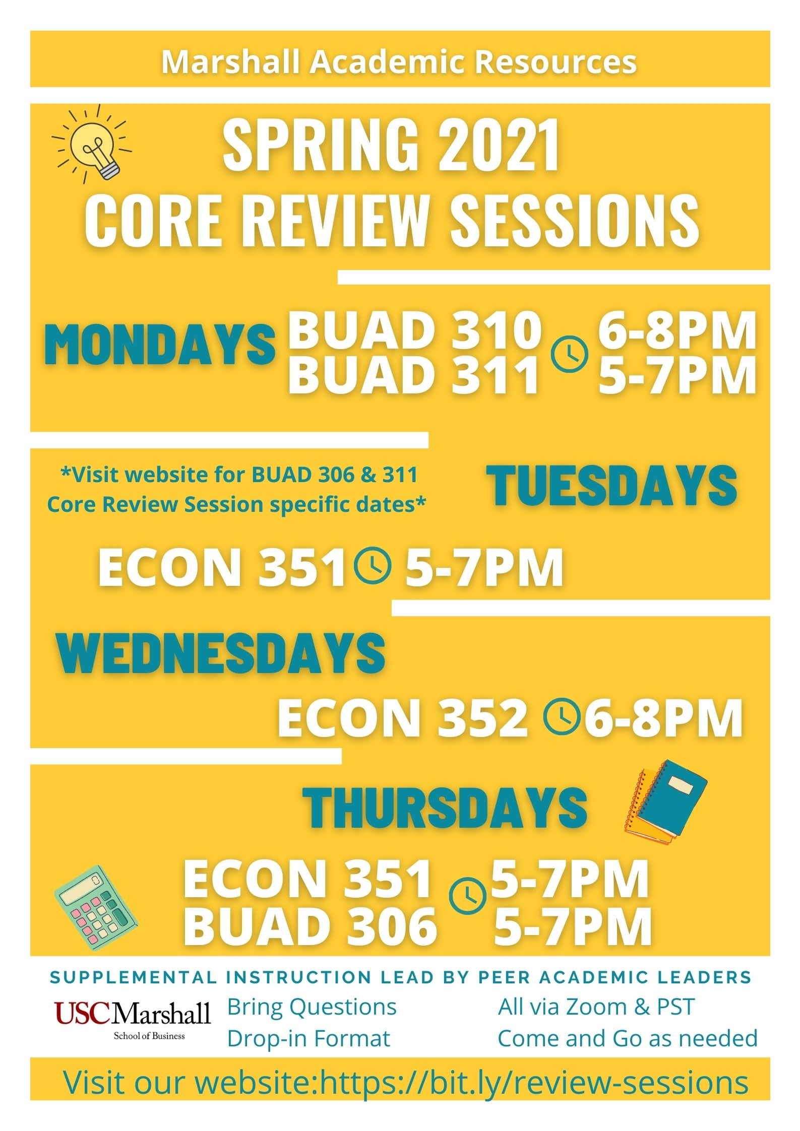 Spring 2021 Core Review Sessions