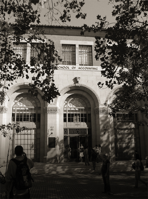 Black and White picture of the School of Accounting