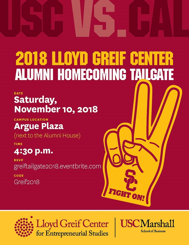 Greif Center Alumni Tailgate Flyer