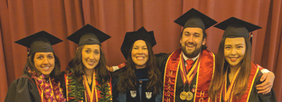 Honors Graduates with Kristin Diehl
