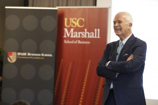 Dr. Pedro Aspe gives first business lecture talk at USC Marshall 2018