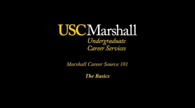 marshall career source 101 videos - Usc Marshall Resume Template